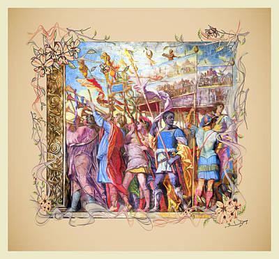 Digital Art - The Triumph Of Julius Caesar Series 1 - Remastered by Carlos Diaz