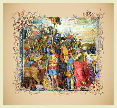 Digital Art - The Triumph Of Julius Caesar Series 3 by Carlos Diaz