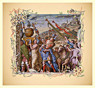 Digital Art - The Triumph Of Julius Caesar Series 4 - Remastered by Carlos Diaz