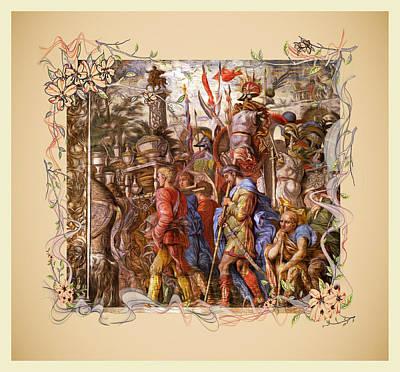 Digital Art - The Triumph Of Julius Caesar Series 6 - Remastered by Carlos Diaz
