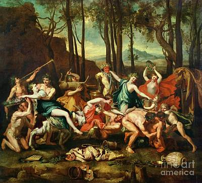 Roman Ancient Painting - The Triumph Of Pan by Nicolas Poussin
