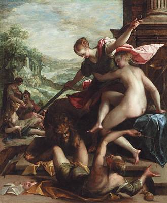 Justice Painting - The Triumph Of Truth by Johann or Hans von Aachen