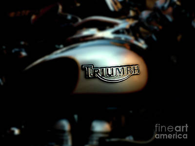 Motorcycles Photograph - The Triumph by Steven Digman