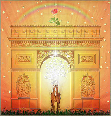 Digital Art - The Triumphal Arch by Harald Dastis