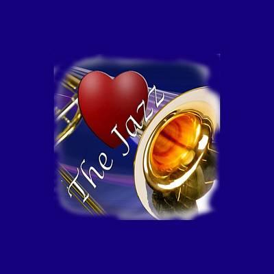 Photograph - The Trombone Jazz 002 by M K Miller