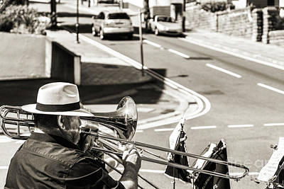 Photograph - The Trombone Player by Steve Purnell