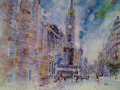 The Tron High Street  Edinburgh  Art Print by Robert Hogg