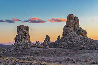 Photograph - The Trona Pinnacles by Peter Tellone