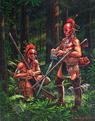 Cherokee Painting - The Trophy by Dan  Nance