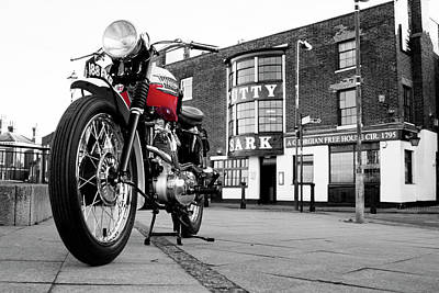 Cutty Sark Photograph - The Trophy Tr5 Motorcycle by Mark Rogan