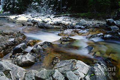 The Trotting Song Of Small Rapids  Art Print by Jeff Swan