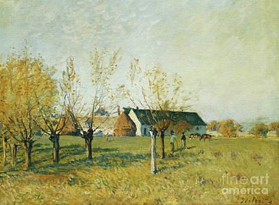 The Trou D'enfer Farm, Autumn Morning Art Print
