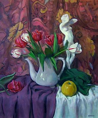Painting - The Trouble With Tulips by Robert Holden