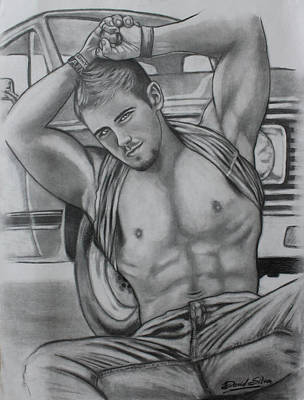 Gay Drawing - The Truck Boy by David DaSilva