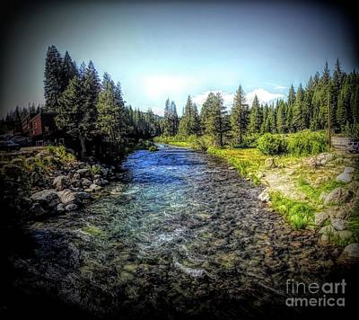 Digital Art - The Truckee River by Joe Lach