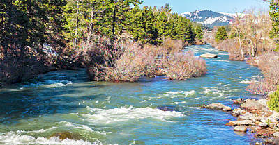 Photograph - The Truckee River by Nancy Marie Ricketts