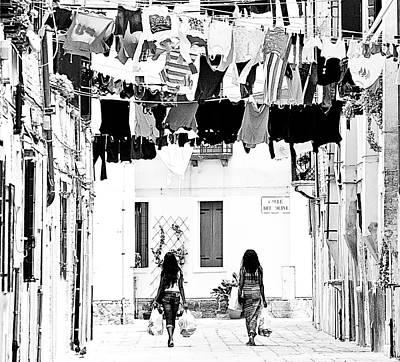 Hair-washing Digital Art - The True Not Touristic Venice by Luisa Vallon Fumi