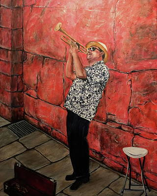 The Trumpet Man Original by Bonnie Peacher