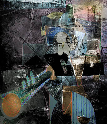 Digital Art - The Trumpet Player by Kim Gauge