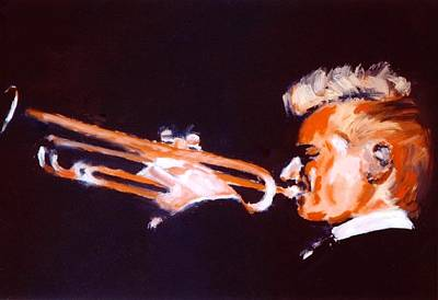 Bach Painting - The Trumpeter F# by Gene Traganza