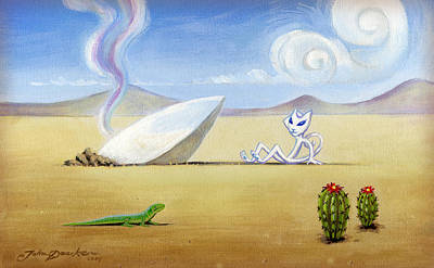Painting - The Truth About Roswell by John Deecken