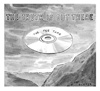 Tv Drawing - The Truth Is Out There The Pee Tape by Brendan Loper