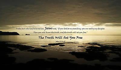 Discipleship Digital Art - The Truth Will Set You Free by Alexis Moreno Plariza