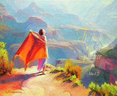 Bible Wall Art - Digital Art - The Truth Will Set You Free by Steve Henderson