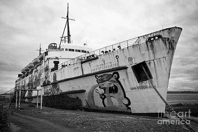 The Tss Duke Of Lancaster Funship Project At Mostyn North Wales Uk Art Print