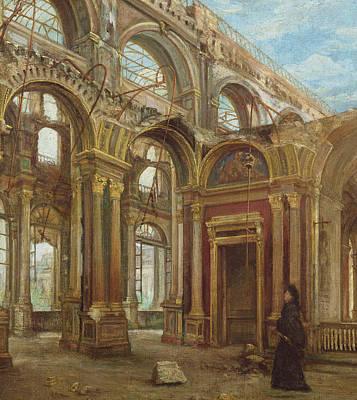 The Tuileries After The Paris Commune Art Print by Alexandre Marre-Lebrett