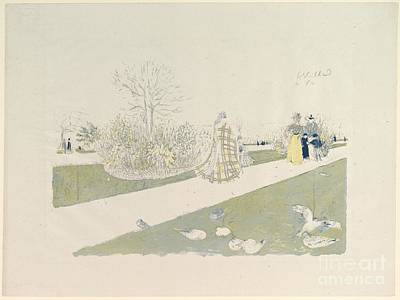 Tuileries Painting - The Tuileries Garden by Celestial Images