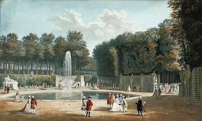 Gouache Painting - The Tuileries Garden by MotionAge Designs