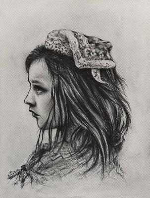 Tulips Drawing - The Tulip Princess by Rachel Christine Nowicki