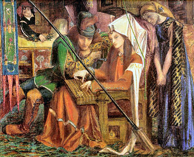 Painting - The Tune Of Seven Towers by Dante Gabriel Rossetti
