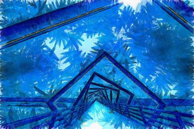 Freedom Digital Art - The Tunnel - Da by Leonardo Digenio