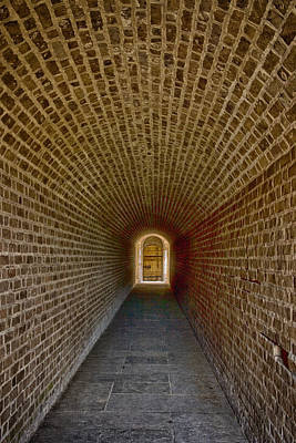 Art Print featuring the photograph The Tunnels Of Fort Clinch by Paula Porterfield-Izzo