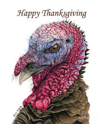 Wild Turkey Painting - The Turkey- Happy Thanksgiving Cards by Sarah Batalka