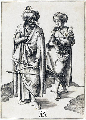 Drawing - The Turkish Family by Albrecht Durer