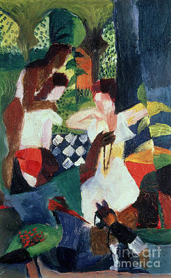 Oil For Sale Painting - The Turkish Jeweller  by August Macke