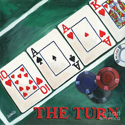 Poker Painting - The Turn by Debbie DeWitt