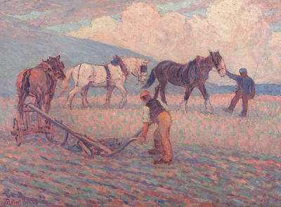 Camden Town Group Painting - The Turn Rice-plough, Sussex by Robert Bevan
