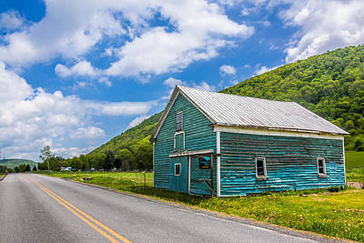 Photograph - The Turquoise Barn by Paula Porterfield-Izzo