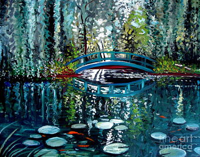 Landscape Painting - The Turquoise Bridge by Elizabeth Robinette Tyndall
