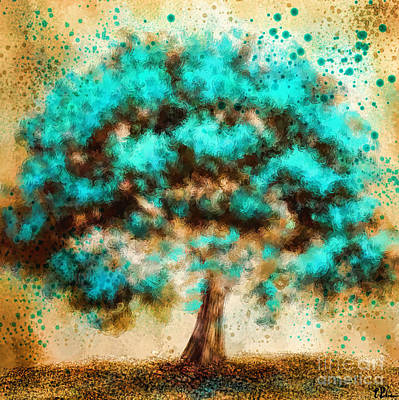 Painting - The Turquoise Tree by Tina LeCour