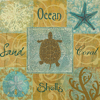 Ocean Turtle Mixed Media - The Turtle by Marilu Windvand
