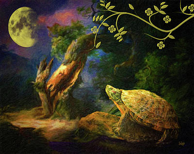 Photograph - The Turtle Of The Moon by Sandra Schiffner