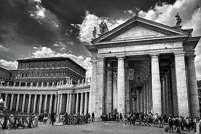 Photograph - The Tuscan Colonnades In The Vatican by Fine Art Photography Prints By Eduardo Accorinti