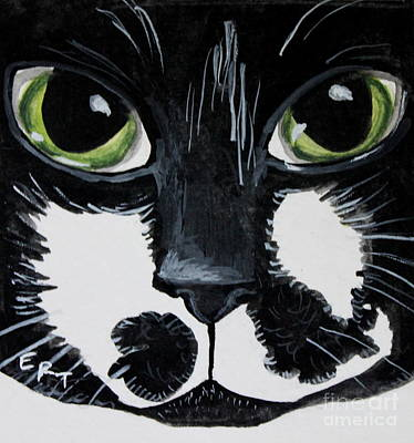 Painting - The Tuxedo Cat by Elizabeth Robinette Tyndall