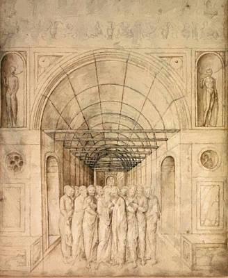 The Twelve Apostles In A Barrel Vaulted Passage 1470 Art Print