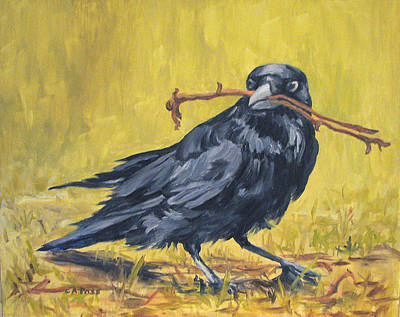 Painting - The Twig Thief by Cheryl Pass